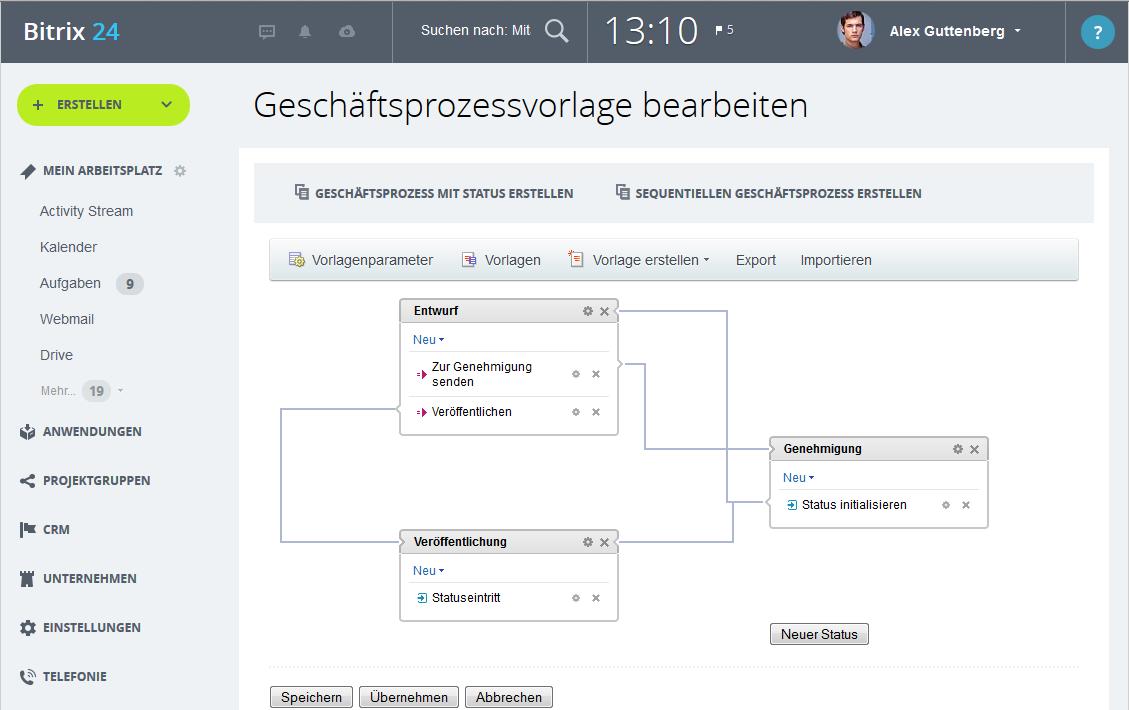 LINXYS Social Intranet Genehmigungs-Workflows